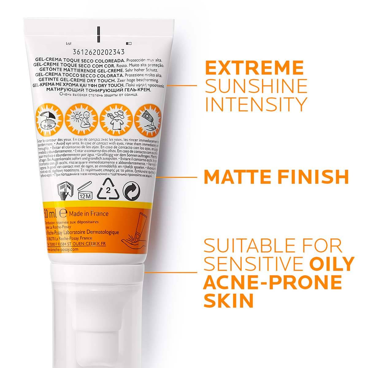 La Roche Posay ProductPage Sun Anthelios XL Tinted Dry Touch Spf50 50m